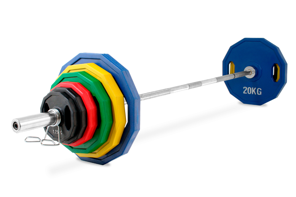 KROON OP-140KG PRO RUBBER COATED OLYMPIC WEIGHT KIT